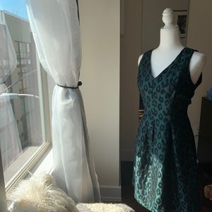 Emerald Leopard Dress